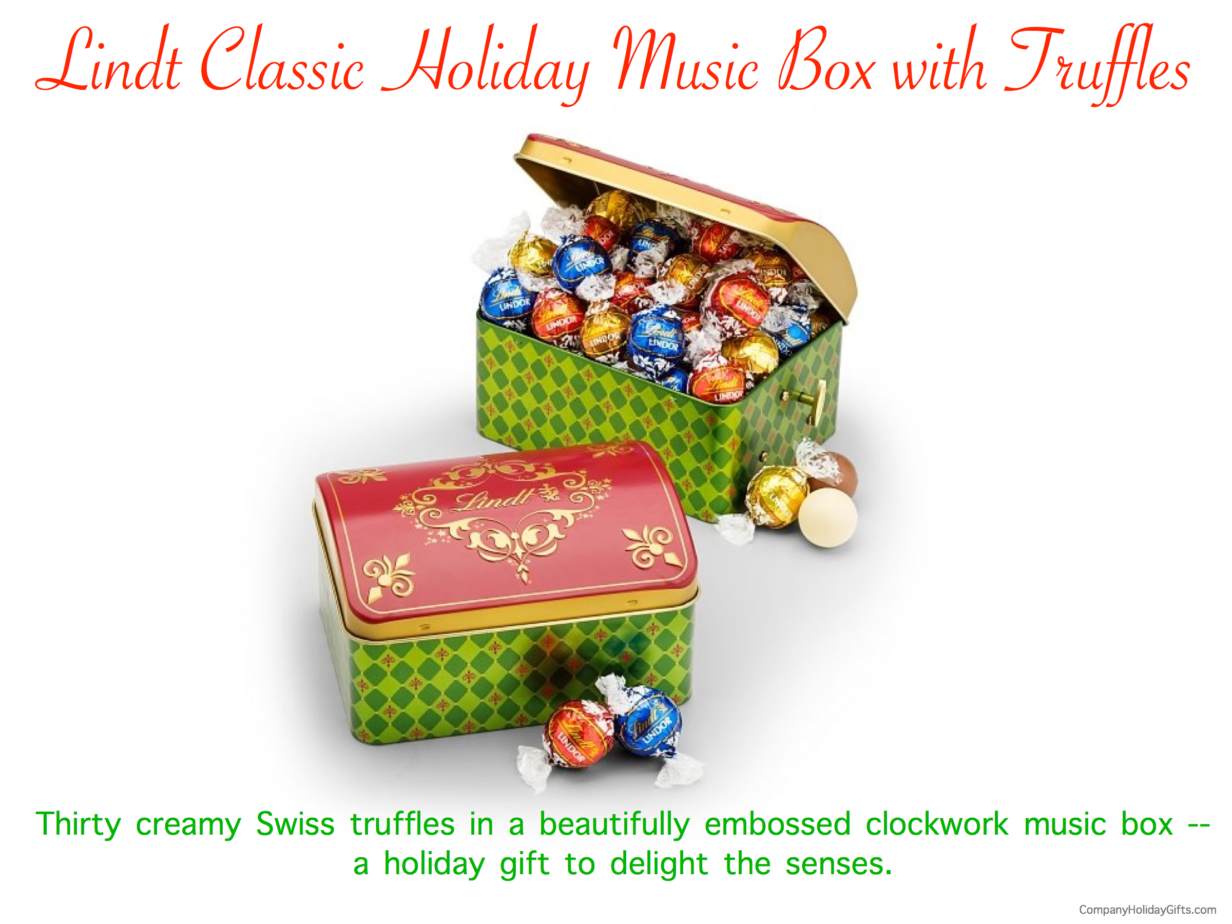 Lindt Classic Holiday Music Box with Truffles, 20 Best Company Holiday Gift Ideas Under $100.00