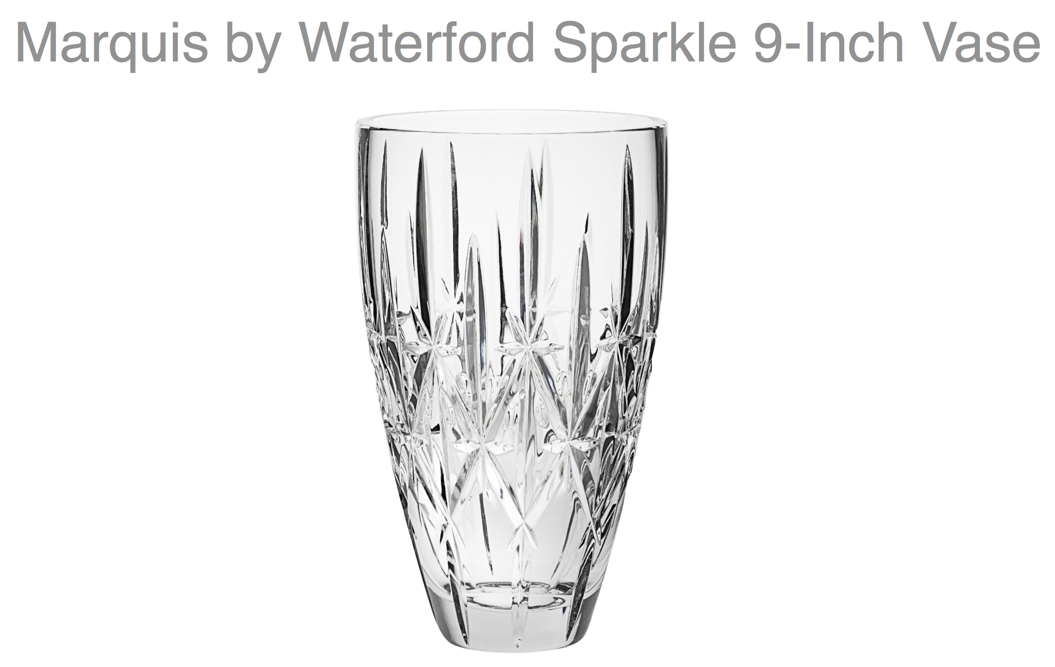 Marquis Waterford Vase Company Holiday Gift