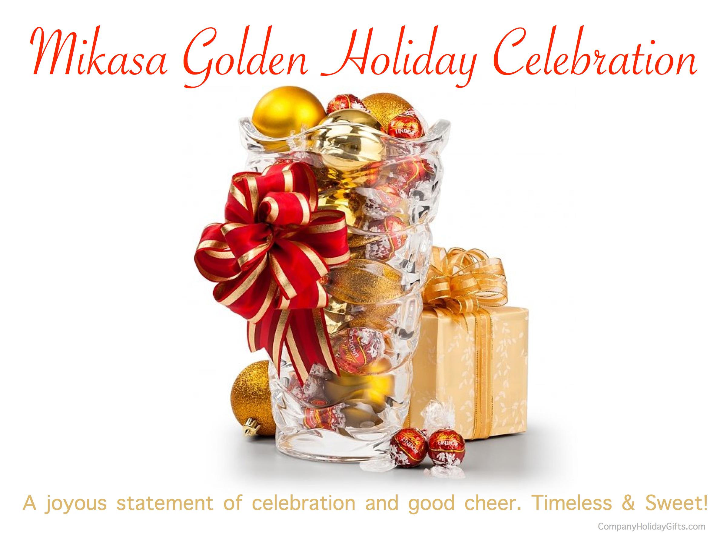 Mikasa Golden Holiday Celebration Holiday Gift