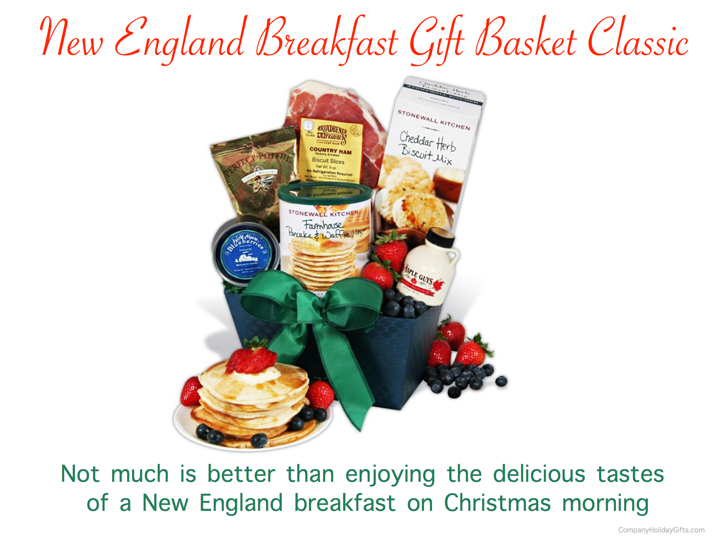 New England Breakfast Gift Basket Classic Holiday Gift, 20 Best Company Holiday Gift Ideas Under $100.00
