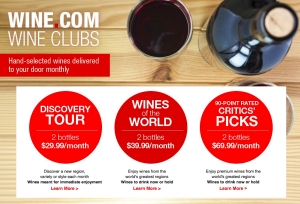 Wine dot com Wine Clubs, Wine Club Subscription