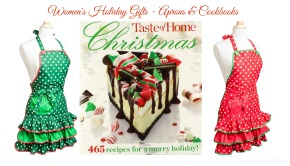 Womens Holiday Gifts – Aprons and Cookbooks!