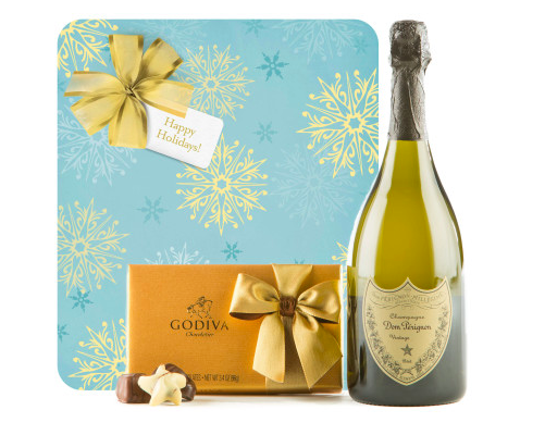 Happy Holidays with Dom Perignon & Godiva Truffles