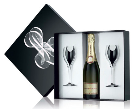 Louis Roederer Brut Premier Gift box with 2 Glasses