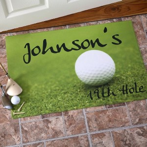 19th Hole Personalized Golf Doormat, Golf Gifts