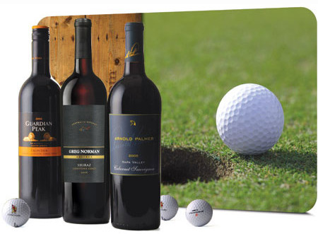 Golf & Wine Legends Set - Wine Collection Gift, Golf Gifts
