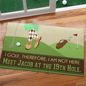 Gone Golfing Personalized Doormat, Golf Gifts