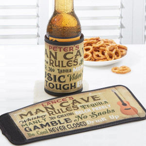 Man-Cave-Rules-Personalized-Can-Bottle-Wrap