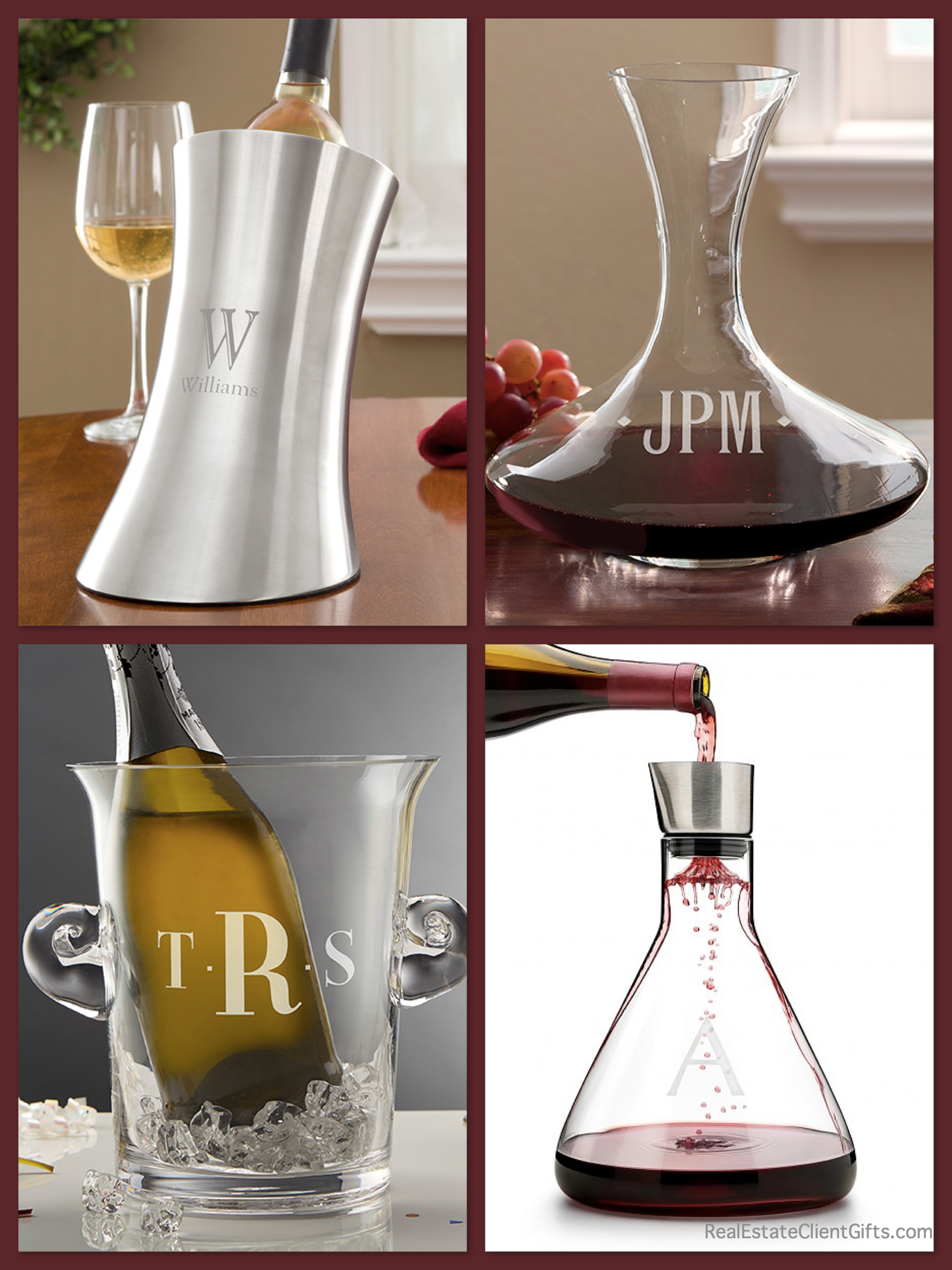 personalized wine decanters and chillers