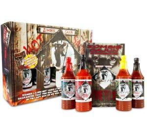 Zombie Cajun Hot Sauce Gourmet Gifts Basket Set