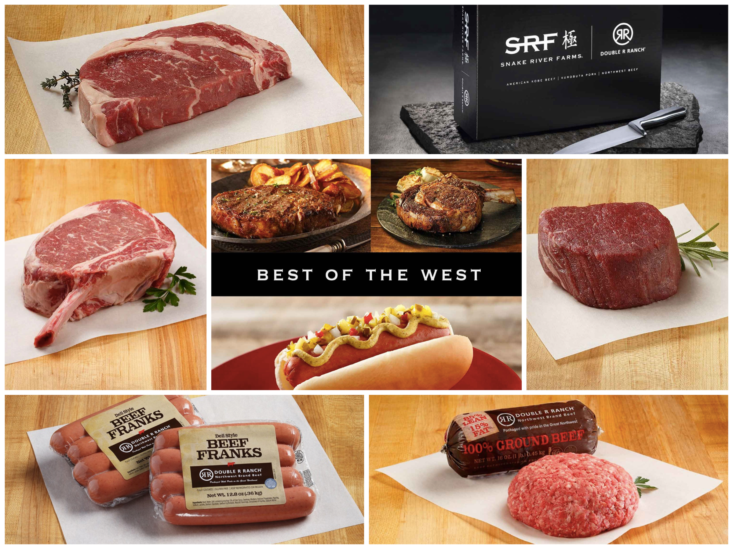 Best of the West Steaks Ground Beef Hotdogs Snake River Farms Company Holiday Gifts, Best Luxury Company Holiday Gifts