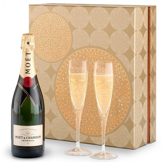 Champagne and Flutes Gift Set, Best Company Holiday Gifts Over $100, Best Luxury Company Holiday Gifts