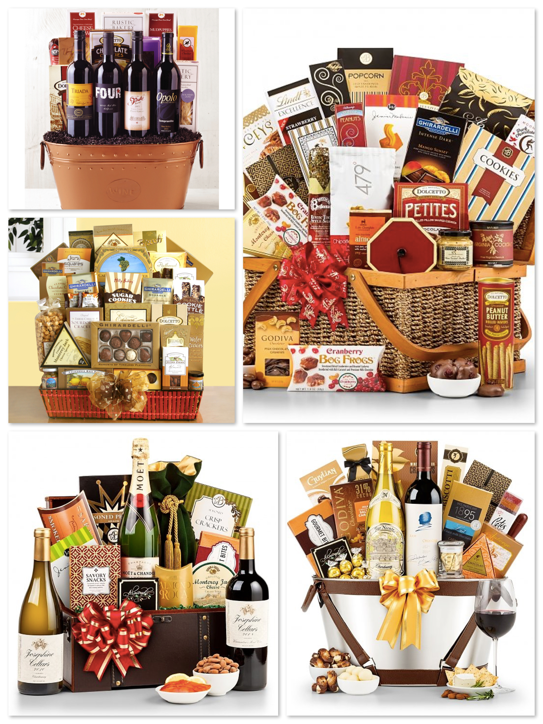 Luxury Wine Baskets, Best Company Holiday Gifts Over $100, Best Luxury Company Holiday Gifts