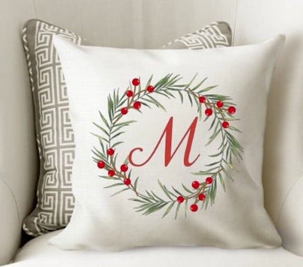 Family Name Christmas Pillow