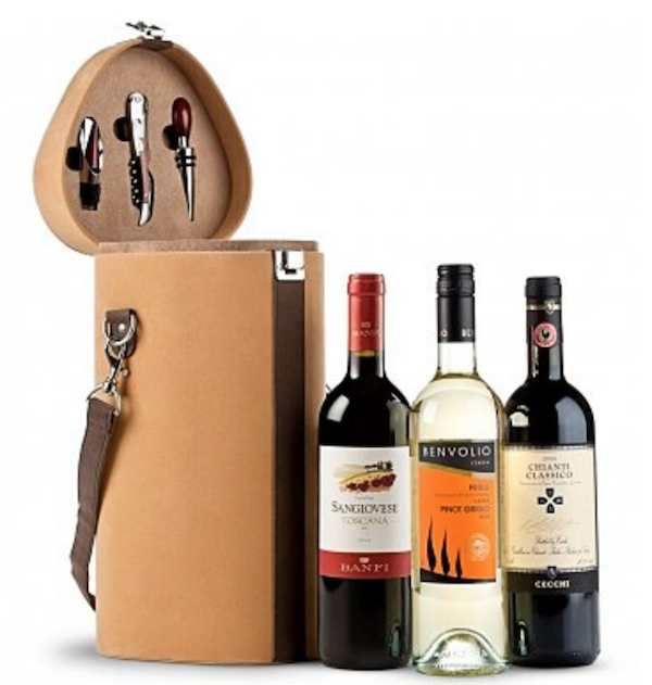 Wine Trio Travel Tote Holiday Company Gift